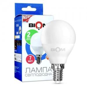 Светодиодная лампа Biom BT-565 G45 7W E14 3000К