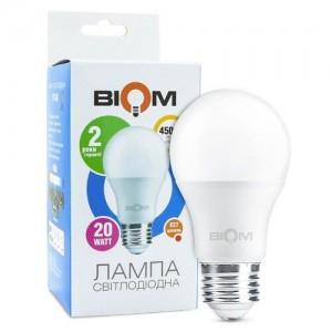 Светодиодная лампа Biom BT-520 A80 20W E27 4500К матовая