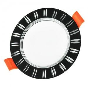 Светильник светодиодный Biom DFR-6B 6Вт черный круглый 5000К