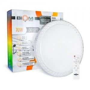 Светильник светодиодный Biom SMART SML-R14-70-M 3000-6000K+ RGB 70Вт с д/у музыкальный BT APP