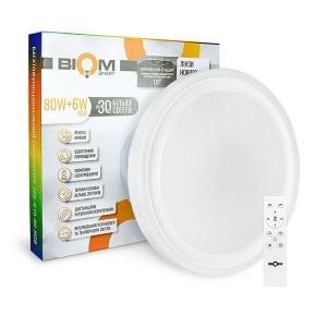 Светильник светодиодный Biom SMART SML-R19-80-RGB 3000-6000K 80Вт+16Вт RGB с д/у +APP