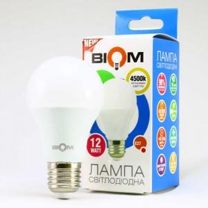 Светодиодная лампа Biom BT-512 A60 12W E27 4500К