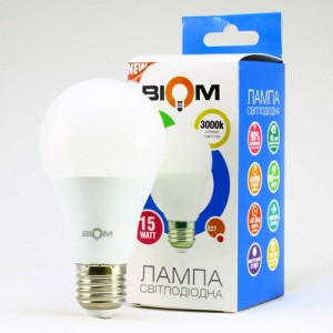 Светодиодная лампа Biom BT-515 A65 15W E27 3000К