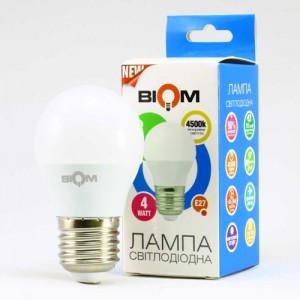 Светодиодная лампа Biom BT-544 G45 4W E27 4500К