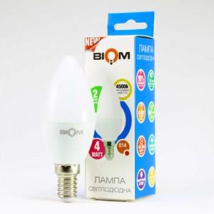 Светодиодная лампа Biom BT-550 C37 4W E14 4500К