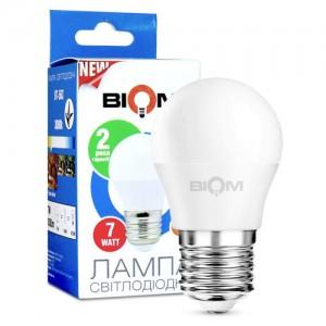 Светодиодная лампа Biom BT-563 G45 7W E27 3000К