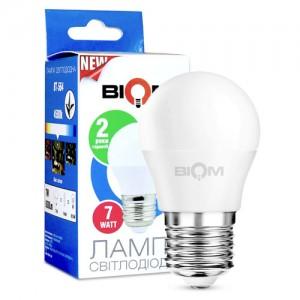Светодиодная лампа Biom BT-564 G45 7W E27 4500К