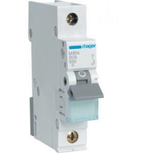 Автоматический выключатель 50А Hager, 1P, B, MBN150E