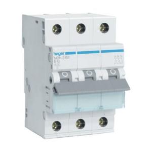 Автоматический выключатель 16А Hager, 3P, B, MBN316E