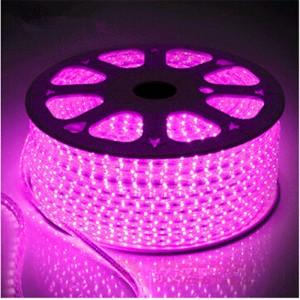 Светодиодная лента 5050-60 led/m 220V IP68 Pink розовый