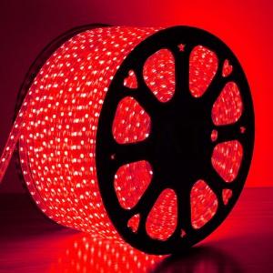 Светодиодная лента 5050-60 led/m 220V IP68 Red красный