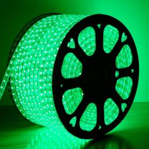 Светодиодная лента 5050-60 led/m 220V IP68 Green зеленый
