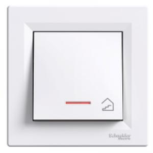 """Кнопка """"лестница"""" с подсветкой Schneider-Electric Asfora белая"""