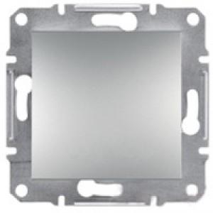 Выключатель 1-клавишный Schneider-Electric Asfora Plus алюминий