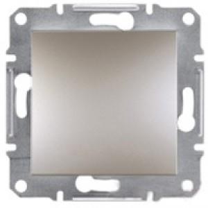 Выключатель 1-клавишный Schneider-Electric Asfora Plus бронза