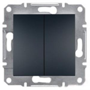Выключатель 2-клавишный Schneider-Electric Asfora Plus антрацит