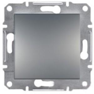 Выключатель проходной Schneider-Electric Asfora Plus сталь