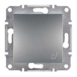 """Кнопка """"звонок"""" Schneider-Electric Asfora Plus сталь"""