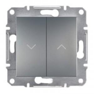 Выключатель для жалюзи Schneider-Electric Asfora Plus сталь