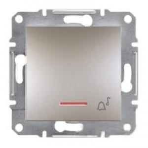 """Кнопка """"звонок"""" с подсветкой Schneider-Electric Asfora Plus бронза"""