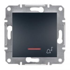 """Кнопка """"звонок"""" с подсветкой Schneider-Electric Asfora Plus антрацит"""