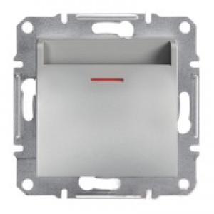 Выключатель карточный Schneider-Electric Asfora Plus алюминий
