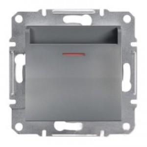 Выключатель карточный Schneider-Electric Asfora Plus сталь