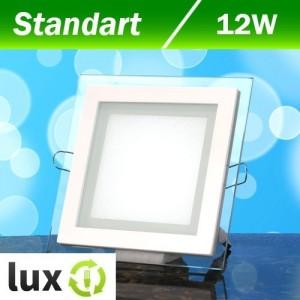 Светильник светодиодный Biom GL-S12 12Вт квадратный нейтральный белый
