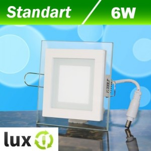 Светильник светодиодный Biom GL-S6 6Вт квадратный нейтральный белый